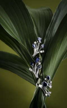 shinny jewelry with floral elements