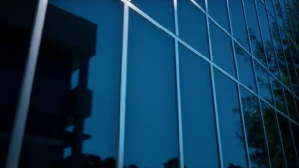 Ein Recht auf generisches, reflektierendes Bankgebäude am Mittag