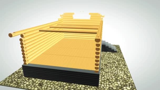 Animovaná ukázka výstavby domů