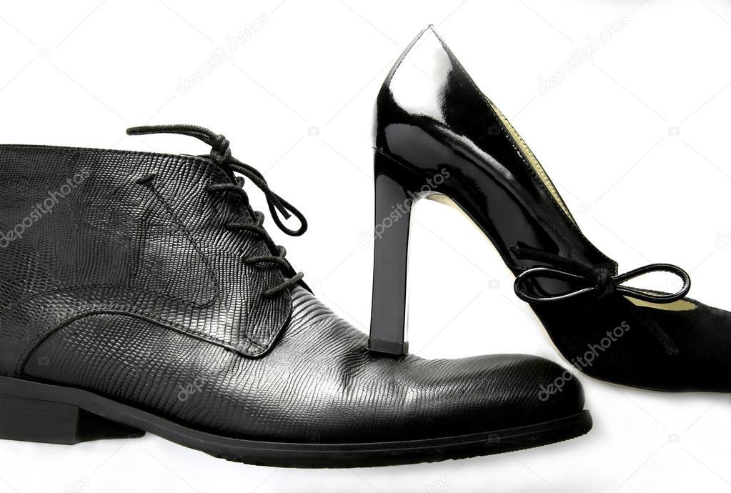 0e60ae228 sapatos masculinos e femininos na moda — Stock Photo © Alexx60 #92256026