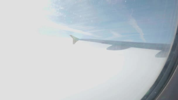 Aircraft wing with backlight during flight