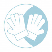 Christmas icon of gloves in blue color for print, web icons, t-shirt design, greeting cards, business and holidays. Vector icons illustration