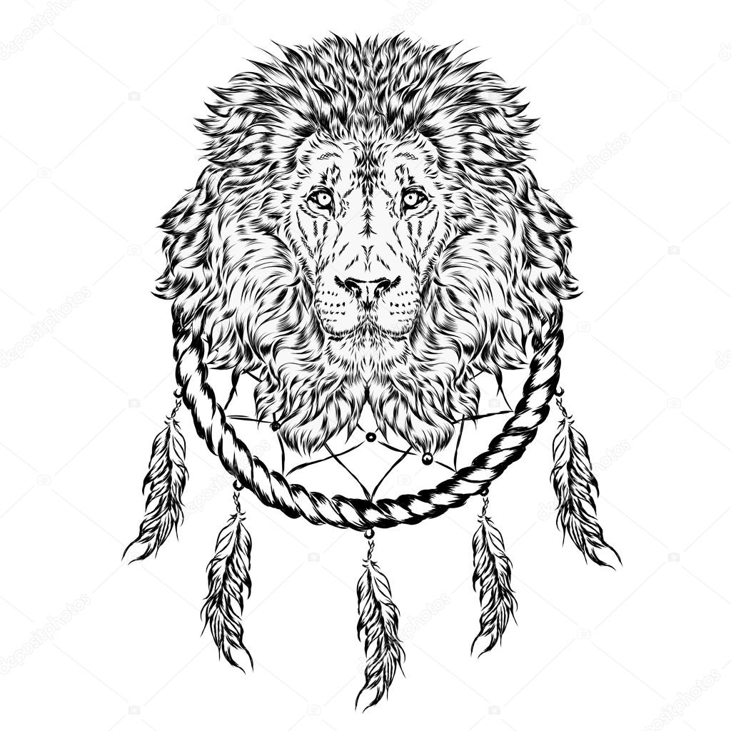 and dreamcatcher vector illustration stock vector