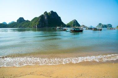 Beautiful seascape with Titov island
