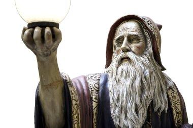 Merlin statue spell medieval druid
