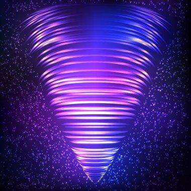 Shining abstract swirl