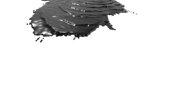 schwarze Flüssigkeit auf weißem Hintergrund