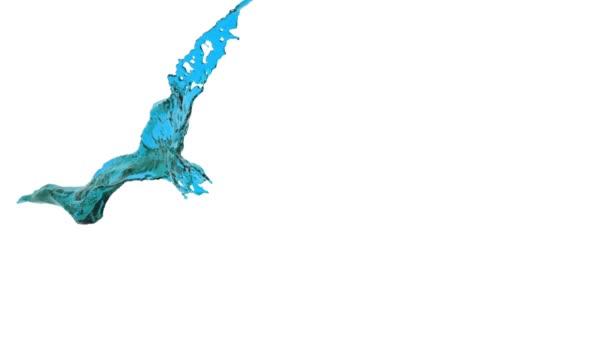 slow motion blue splash of liquid