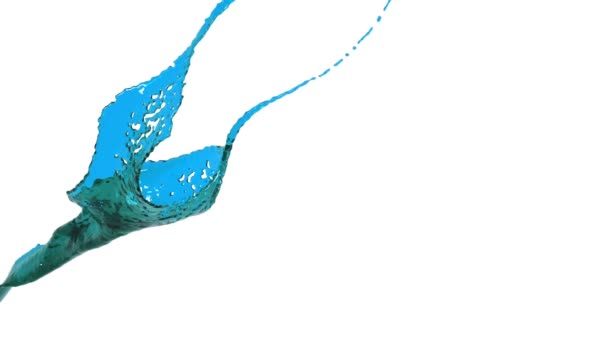 blue color splash slow motion