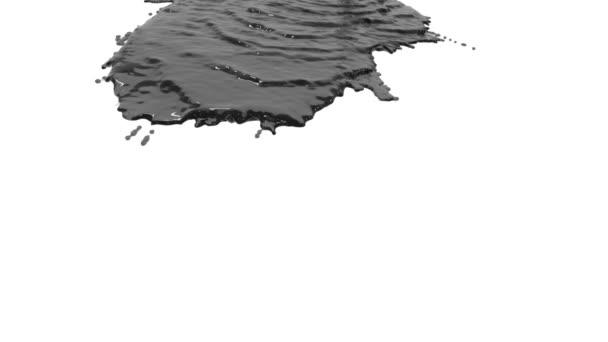 Graue Farbe übergießt sich in Zeitlupe mit Weiß