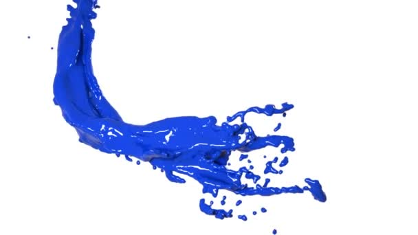 flying blue fluid flow in slow motion