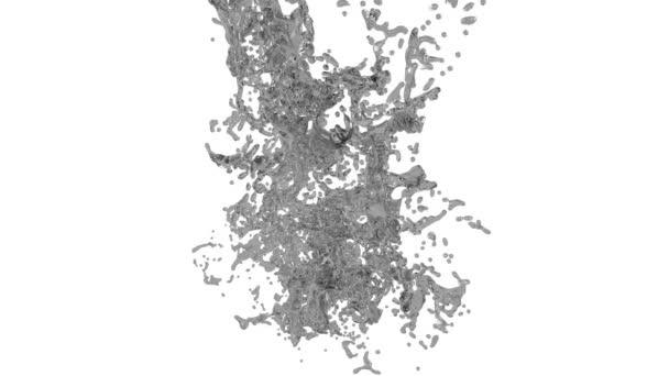 große Spritzer grauer Flüssigkeit