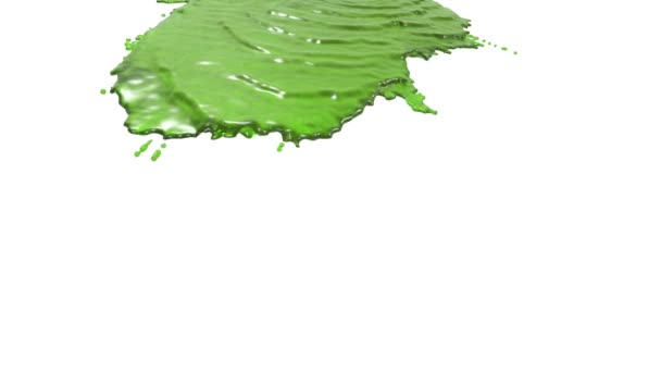 grüne Flüssigkeit auf weißem Hintergrund