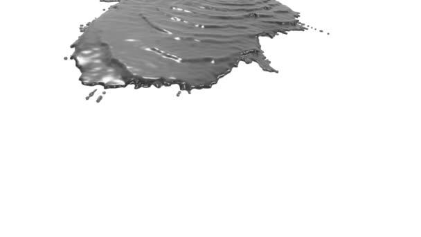 graue Flüssigkeit auf weißem Hintergrund