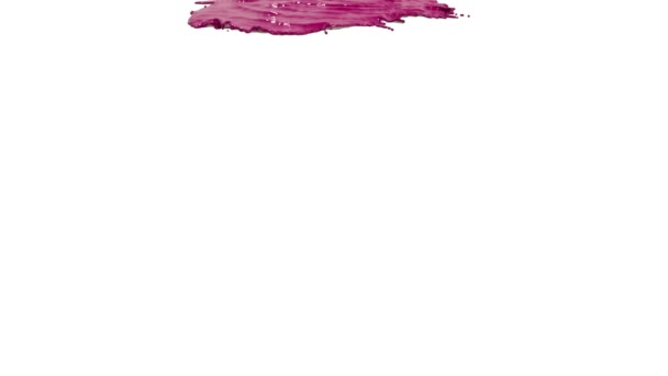 Pinke Farbe auf weißem Hintergrund