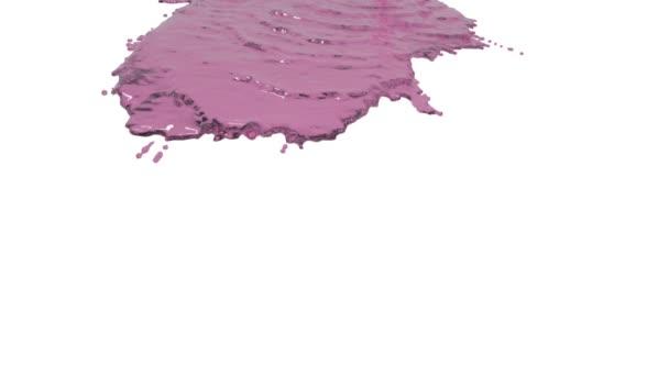 rosa Flüssigkeit auf weißem Hintergrund