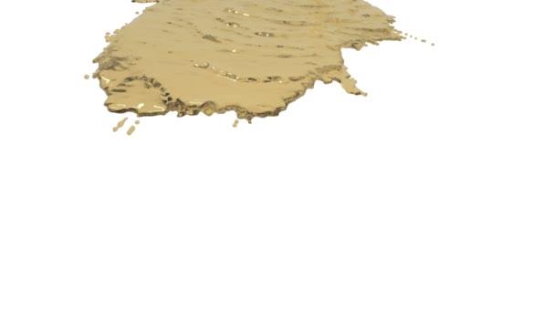 Gelbe Flüssigkeit auf weißem Hintergrund