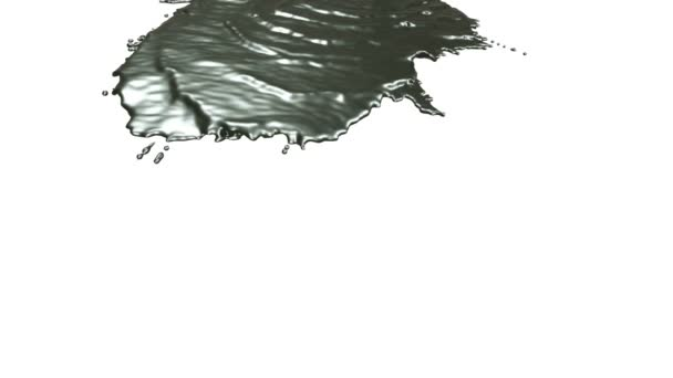 Metall gießt auf weißem Hintergrund