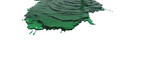 grüne Flüssigkeit auf weißem Hintergrund. Flüssigöl