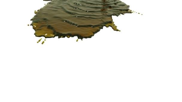 Gelbe Flüssigkeit auf weißem Hintergrund. Sirup