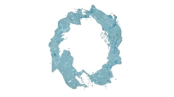 blue liquid circle on white background. Water