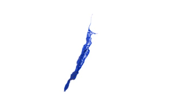 blue splash in the air. slow motion DOF. Paint