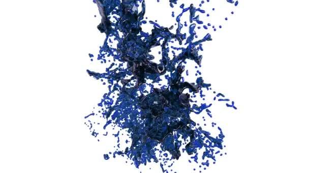 splashing a blue liquid into the air. oil