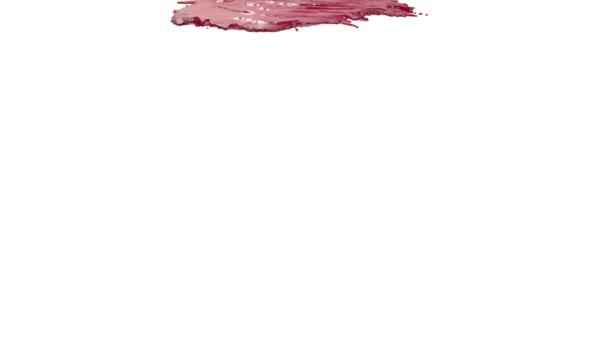 rote Farbe auf weißem Hintergrund. Saft