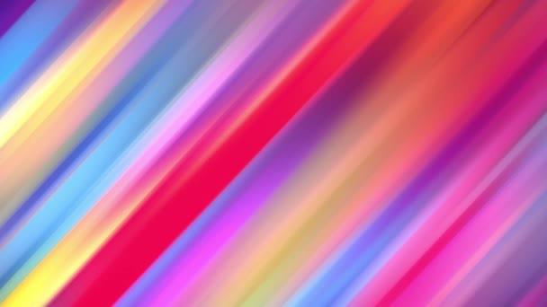 Přechod duhových barev se cyklicky posouvá ve smyčce. 4k krásné abstraktní pozadí s bezproblémovou smyčkou animace pro rekreační prezentace nebo trendy věci ve stylu pohybu designu. Čáry