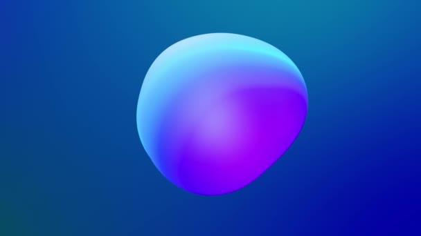 abstrakter 3D-Hintergrund mit wunderschönem Farbverlauf auf Wachsblasen metaball, Kugeln fliegen in der Luft mit innerem Schein, verschmelzen wie Schmelzwachstropfen. 34