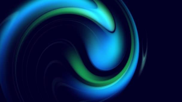 Gradien Spiral Abstrak Berputar Garis Melengkung Memutar Sebagai Latar Belakang Abstrak Kreatif Dengan Gradien Cair Dari Campuran Warna Biru Hijau Perlahan Lahan Dengan Ruang Fotokopi Animasi 4k Mulus Dilingkarkan Stok Video C