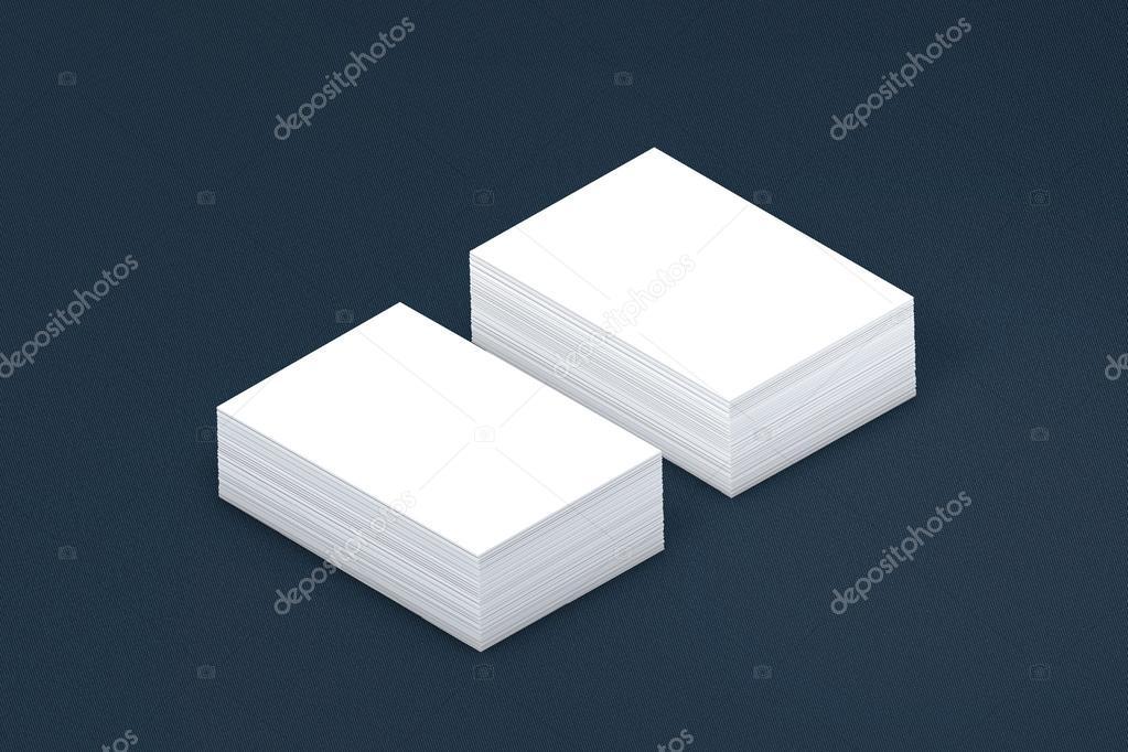 viele Karten-Stapel von Papier-Vorlage auf die Präsentation ...