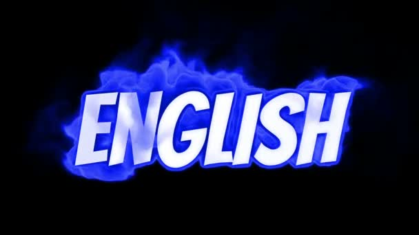 english. text on fire. word in fire. high turbulence. Text in flames. Fire word.