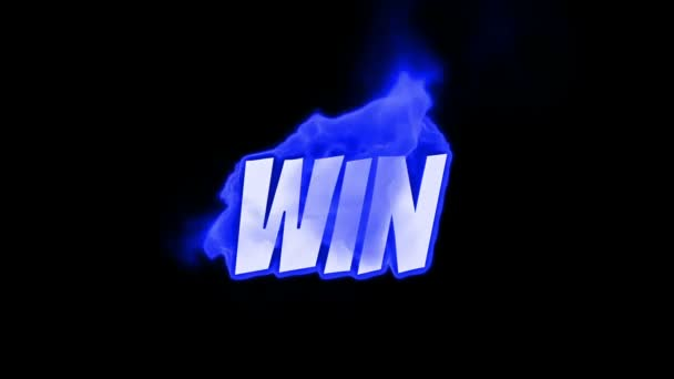 win. text on fire. word in fire. high turbulence. Text in flames. Fire word.