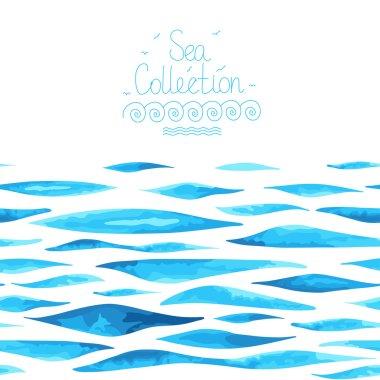 Seamless horizontal sea background