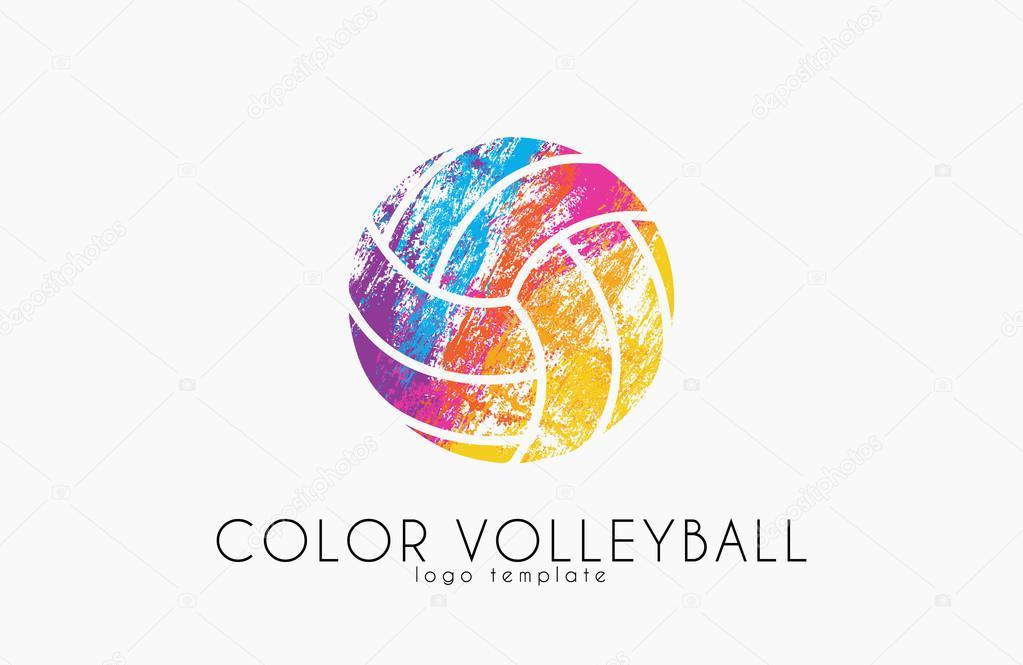Volleyball Logo Volleyball Ball Logo Design Color Ball
