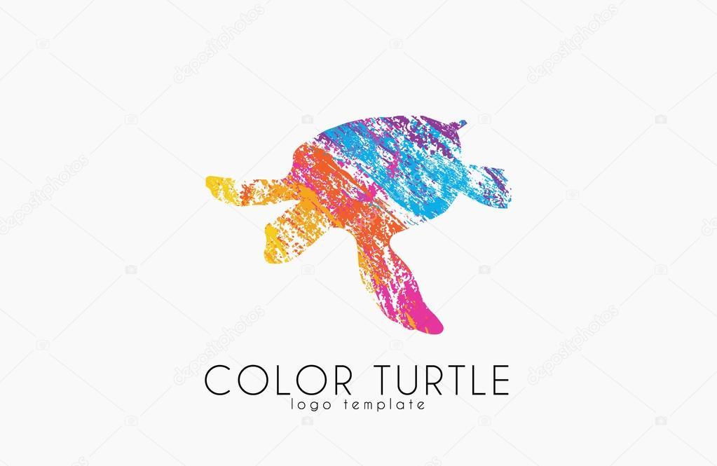 diseño de logo de tortuga. Color tortuga. Logotipo de Creative ...