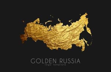 Russia map. Russia logo. Creative Russia logo design