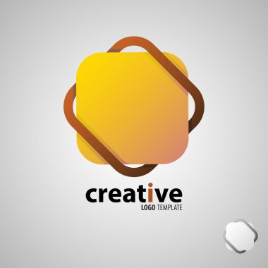 Creative logo. Colorful logo. geometric icon. fashion logo. Bright logo. Geometric logo. Company logo. Vector logo icon