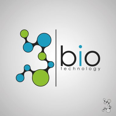 bio technology, bio logo, biology design, bio concept logo, DNA logo