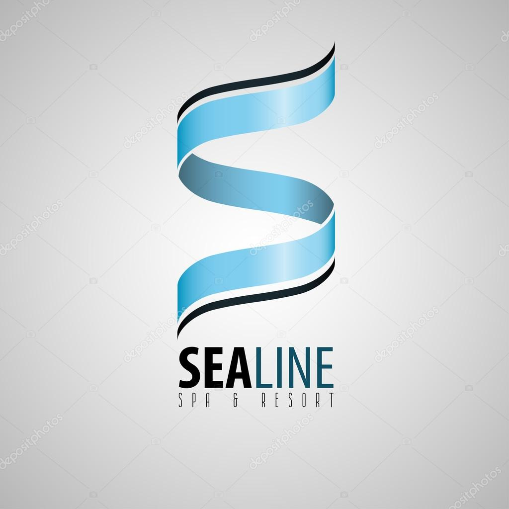 s logo, spa and resort logo, spa logo, sea design logo, logo for hotel, s letter, sea logo