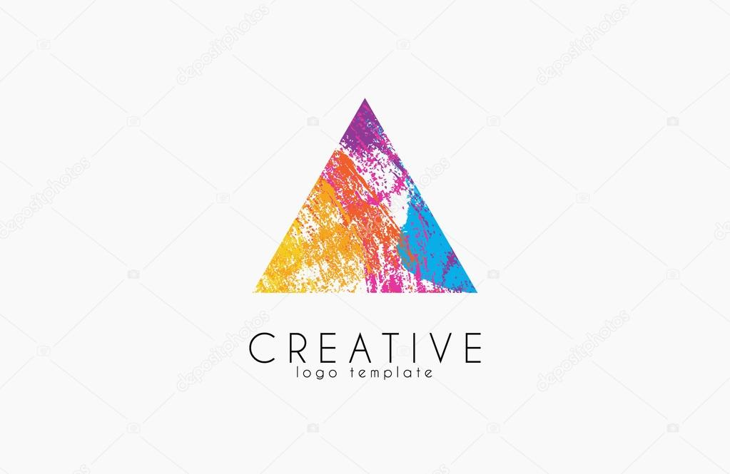 abstract trendy multicolored logo triangle design creative logo