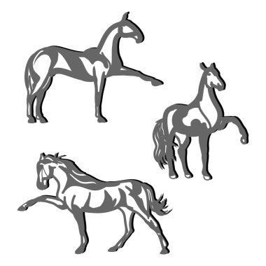 Dressage horses (set)1