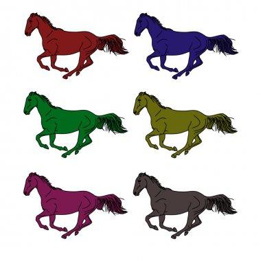 Logo - a galloping horse