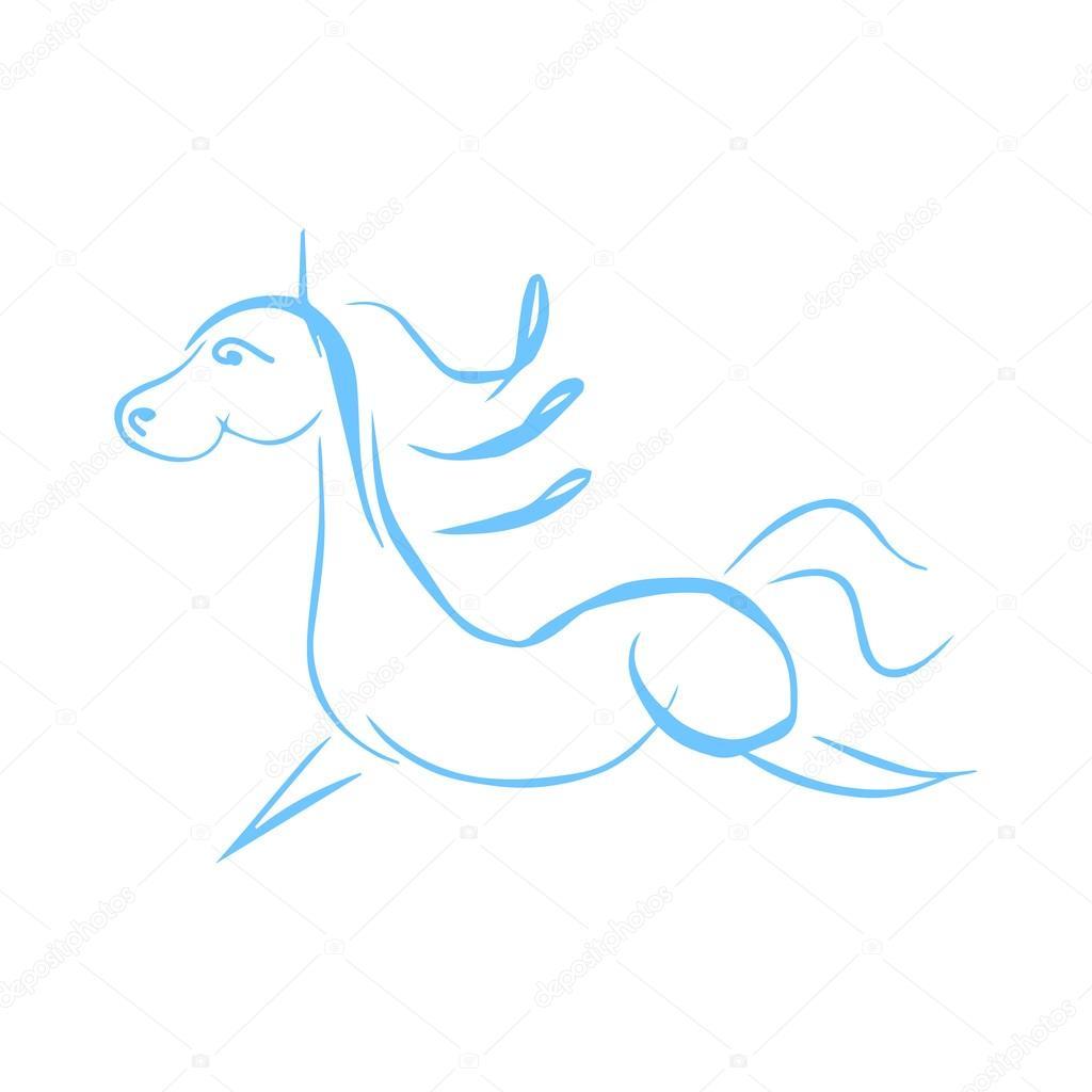 Voorkeur Grappige paard tekenen — Stockvector © Mila_Endo #121571218 #ES83