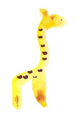 Funny giraffe (animals collection) watercolor