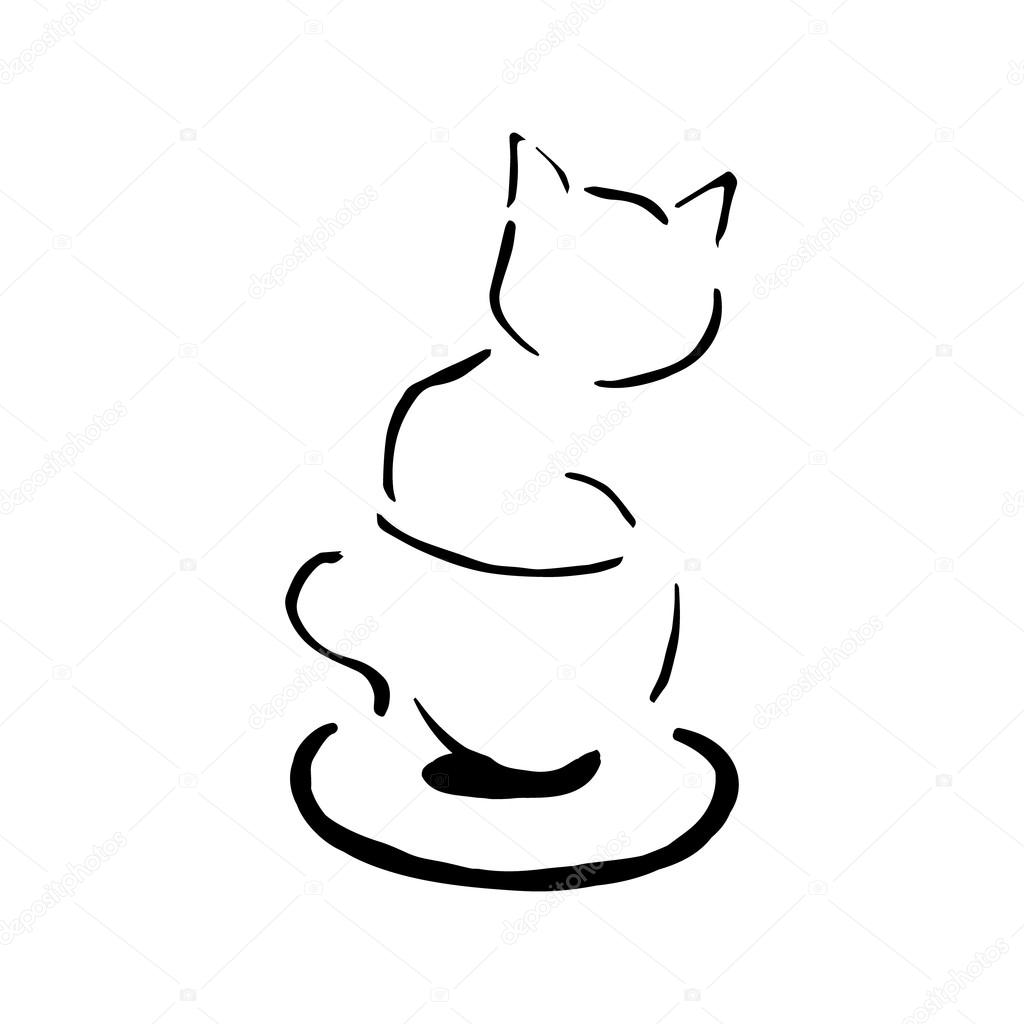 The Symbol Of Morning Kitten In A Cup Stock Vector Milaendo