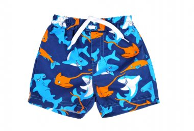 Blue shorts for swimming