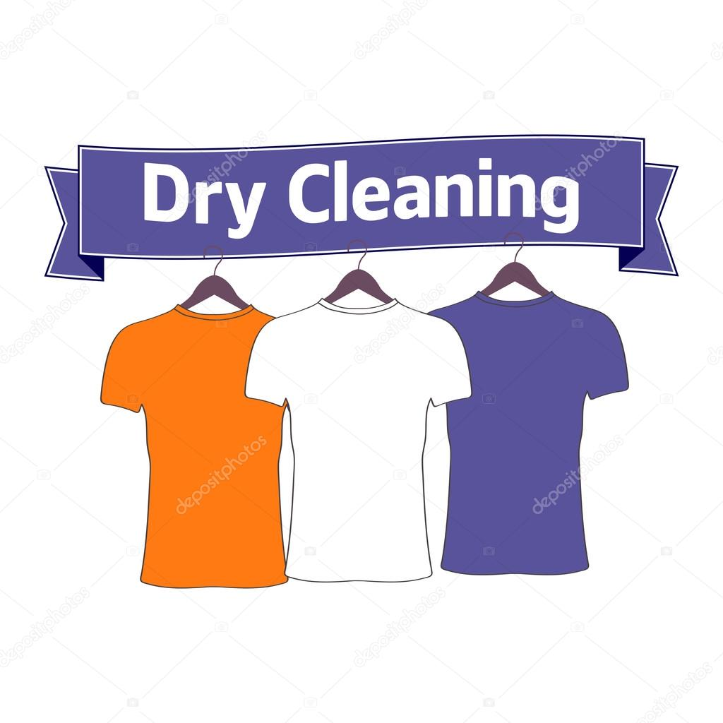 dry cleaning dry cleaning logo concept for logo label