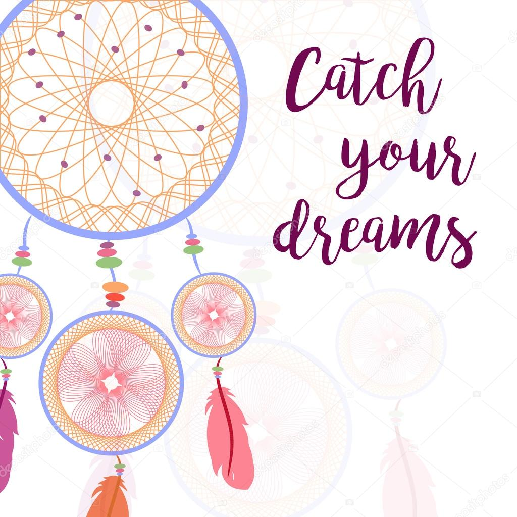 How Do Dream Catchers Catch Dreams Dream catcher Catch your dreams Vector illustration Stock 28